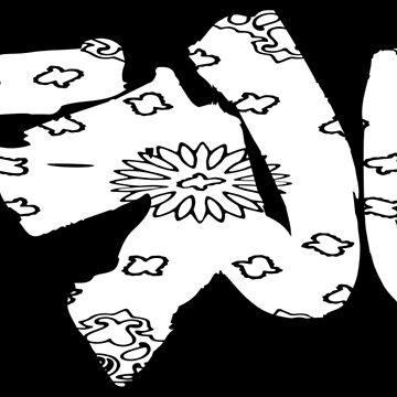 TRU white bandana by knightink