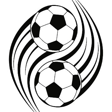 FOOTBALL, SOCCER, YIN YANG by TOMSREDBUBBLE