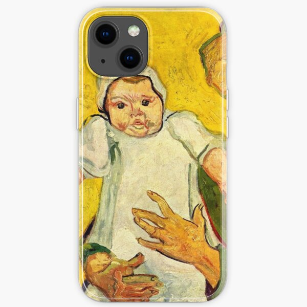 Van Gogh - Augustine Roulin and her Baby iPhone Soft Case