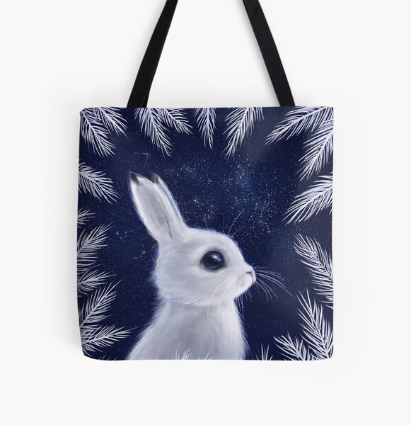 Winter Bunny All Over Print Tote Bag