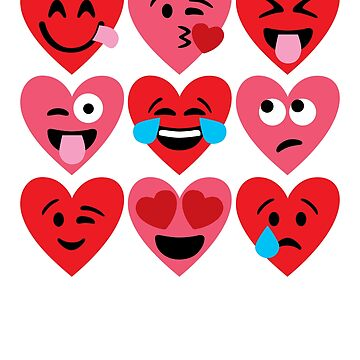 Heart Emojis for Valentines Day by DetourShirts