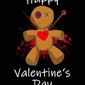 Anti Valentine's Day Voodoo Doll Valentine Hater EMO Punk Love Heartache Blood Heartbroken Happy Valentine's Day Gift Card by theshirtinator