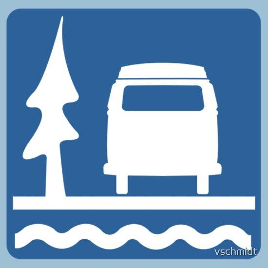 TShirtGifter presents: VW Bay Window Bus Camping