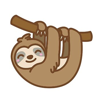 Hanging Sloth Sticker by DetourShirts