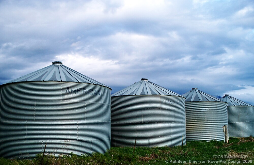 Montana Farm Silos by rocamiadesign