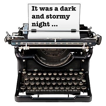 Dark and stormy night, Gifts for book lovers by Futurebeachbum