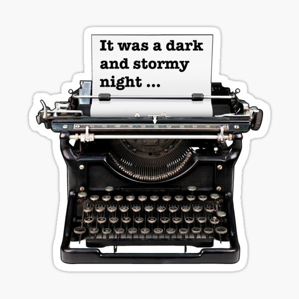 Dark and stormy night, Gifts for book lovers Sticker