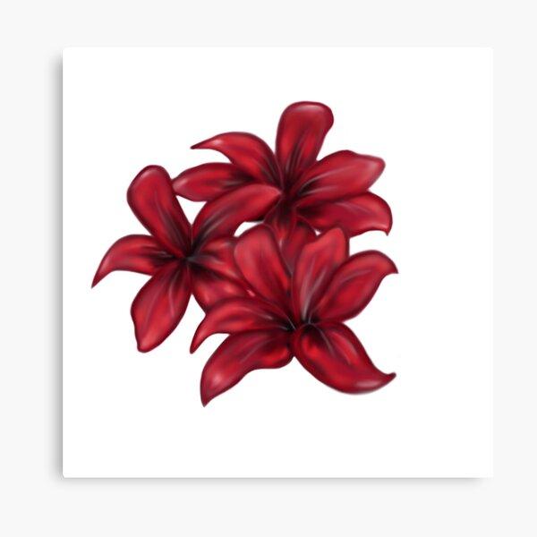 Rote Blüten / rote Blumen Leinwanddruck