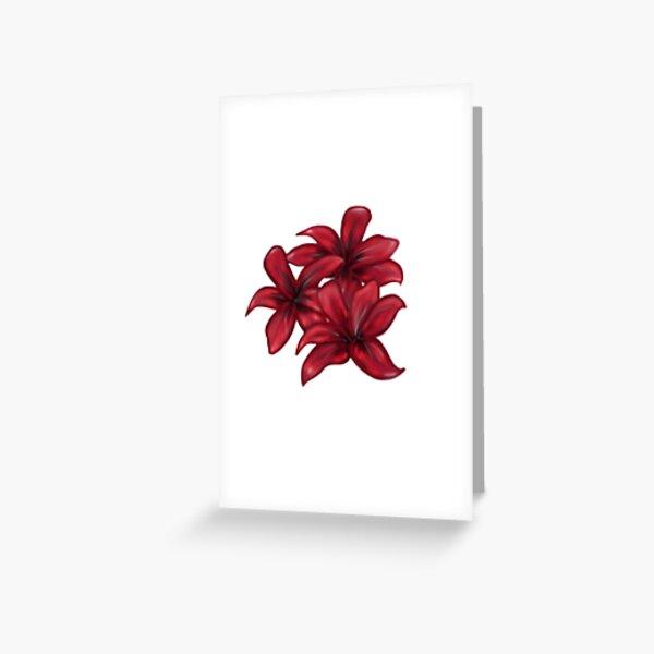 Rote Blüten / rote Blumen Grußkarte