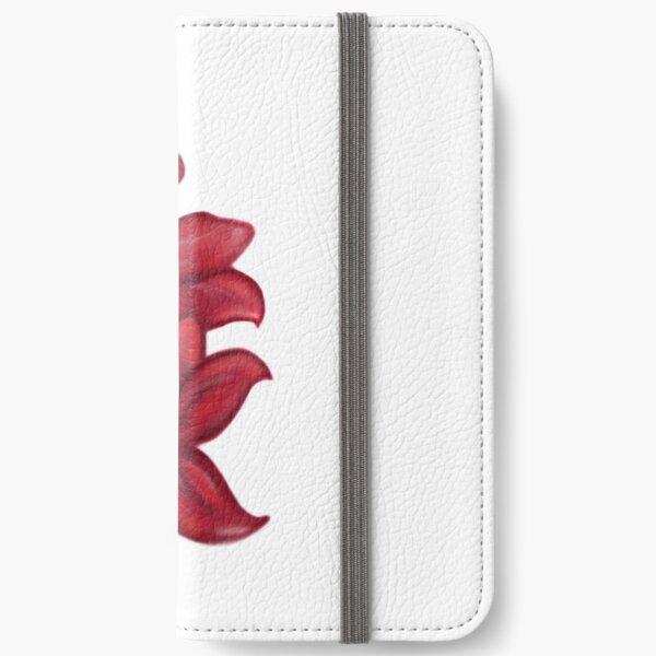 Rote Blüten / rote Blumen iPhone Flip-Case