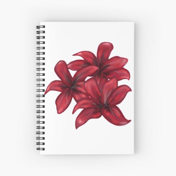 Rote Blüten / rote Blumen Spiralblock