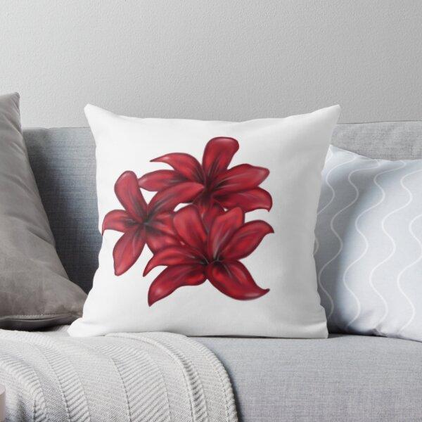Rote Blüten / rote Blumen Dekokissen