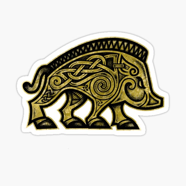 Boar War Pig Sticker