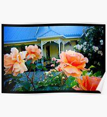 Naik Michel Photography - Hortensia House Garden Orange Flower Roses 001 Poster