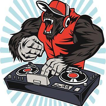 DJ Monkey Gorilla Cap Music by TundCDesign