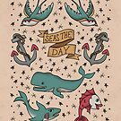 Seas the Day Tattoo 1 by latheandquill