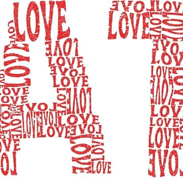 hate love hate love typography by TundCDesign