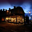 Saltaire Victoria Road at Dusk by Lorne  Campbell