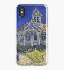 Vincent Van Gogh church at Auvers iPhone Case/Skin