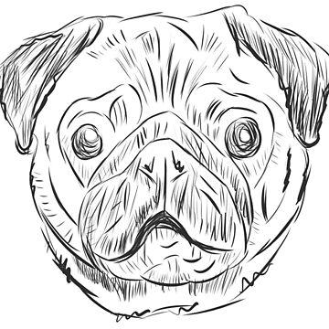 Pug Pugs Dog Pug by TundCDesign