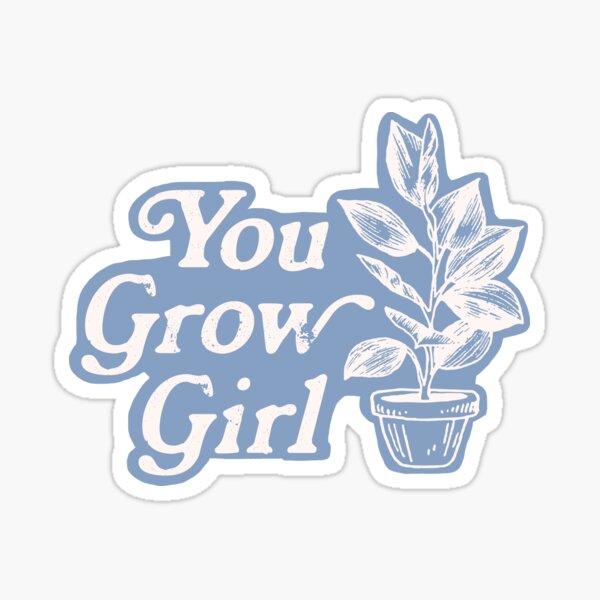 You Grow Girl Blue & Cream Sticker