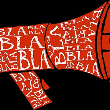 Megaphone Speaker bla bla bla by TundCDesign
