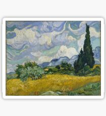 Vincent Van Gogh wheat field with cypresses Sticker