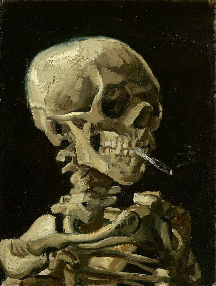 Vincent Van Gogh smoking skeleton by Acosmist