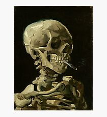 Vincent Van Gogh smoking skeleton Photographic Print