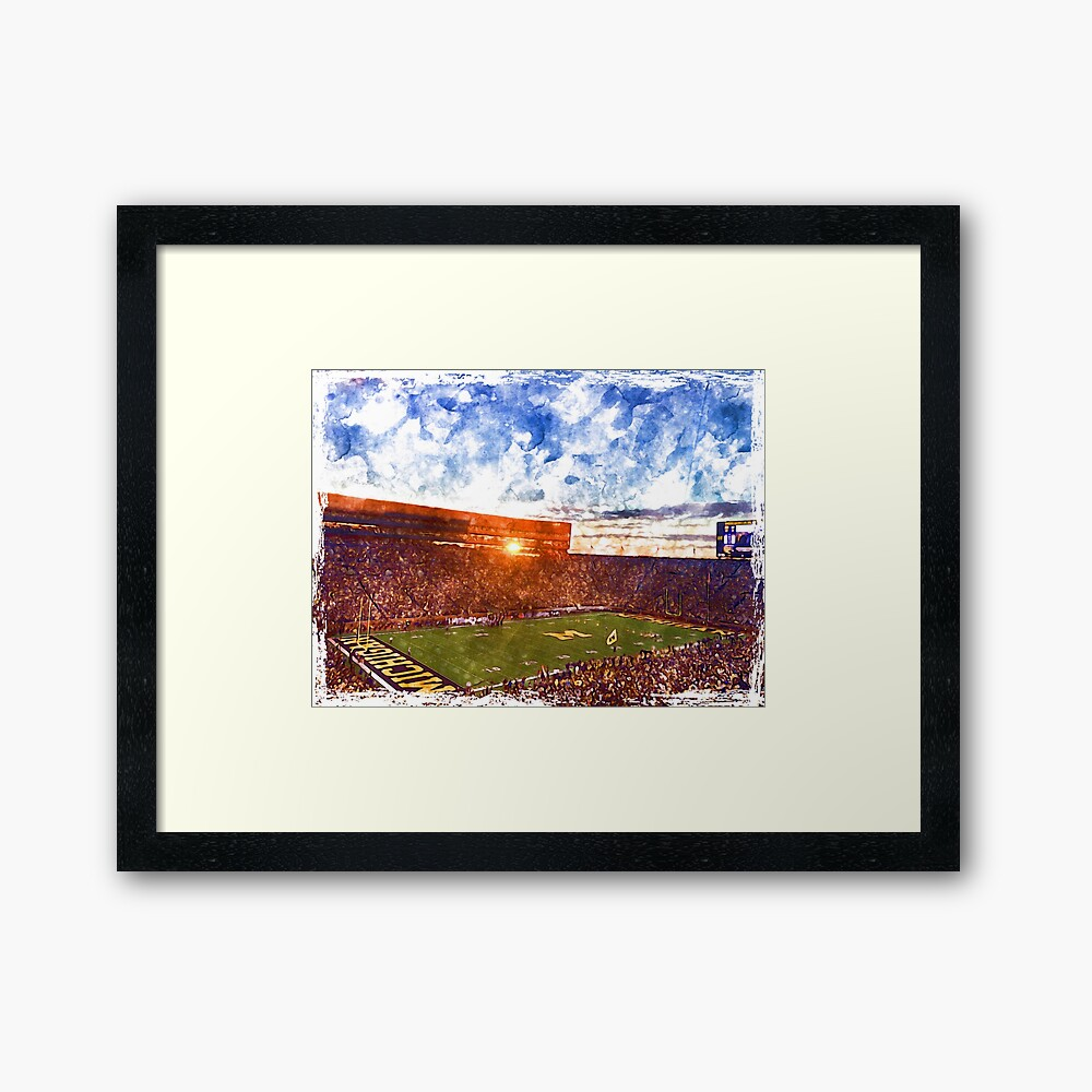 University of Michigan's Big House  Framed Art Print