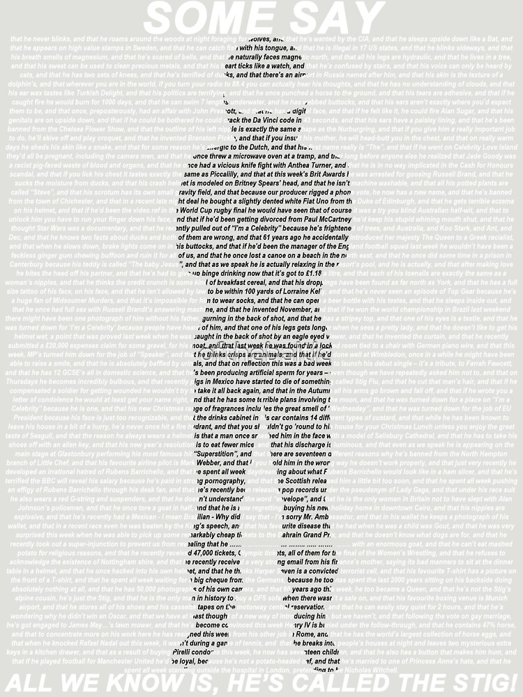 The Stig | Unisex T-Shirt
