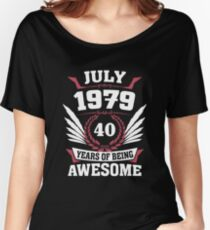 July 1979 40 Years Of Being Awesome Relaxed Fit T-Shirt