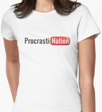 Procrastination Women's Fitted T-Shirt