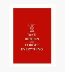 Take Retcon Art Print