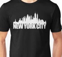 NYC Skyline - white Unisex T-Shirt
