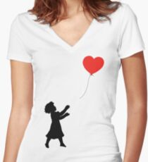 FOLLOW YOUR HEART ♥ Women's Fitted V-Neck T-Shirt