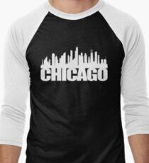 Chicago Skyline - white Men's Baseball ¾ T-Shirt