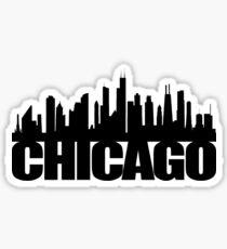 Chicago Skyline - black Sticker