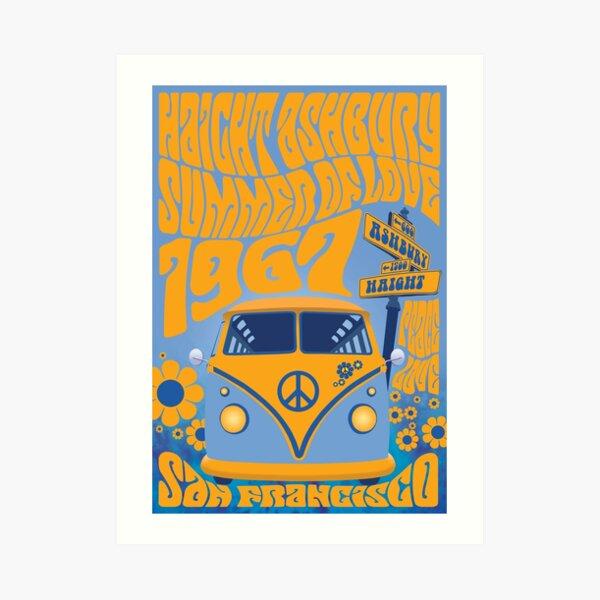 Haight Ashbury Summer Of Love Art Print