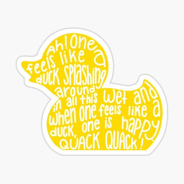 Mulaney duck Sticker