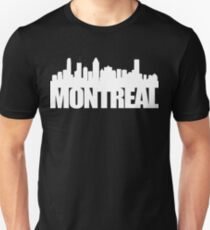 Montreal Skyline - white Unisex T-Shirt