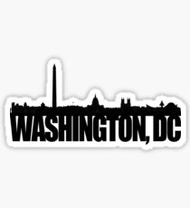 DC Skyline - black Sticker