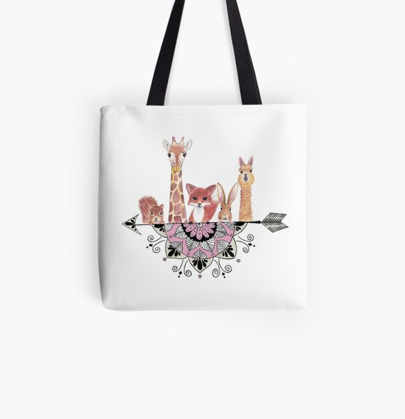 Mandala Menagerie All Over Print Tote Bag