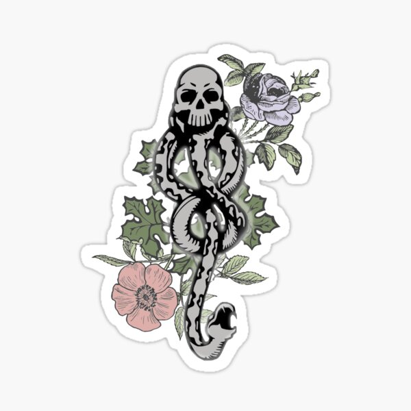Floral Dark Mark Sticker