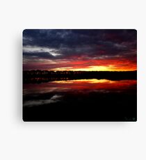 Sunset Water Canvas Print