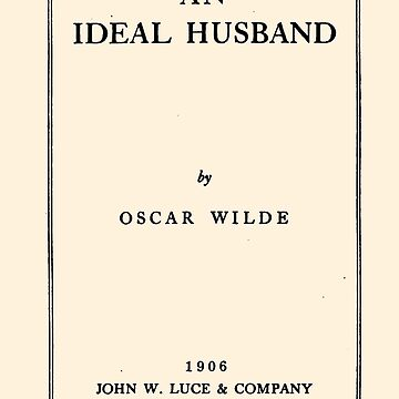 An Ideal Husband Oscar Wilde Title Page by buythebook86