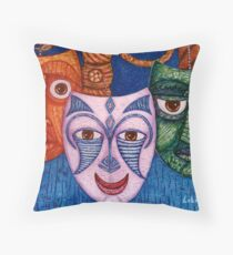 The joy, the anger and the fear  Throw Pillow