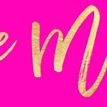 Sei mein, Valentine, Gold + Pink von PixDezines