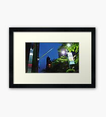 Blue Gotham, East 42nd Street New York City, 4:54 am  Framed Print