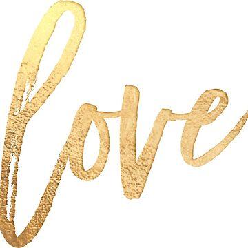 Liebe, Faux Gold von PixDezines